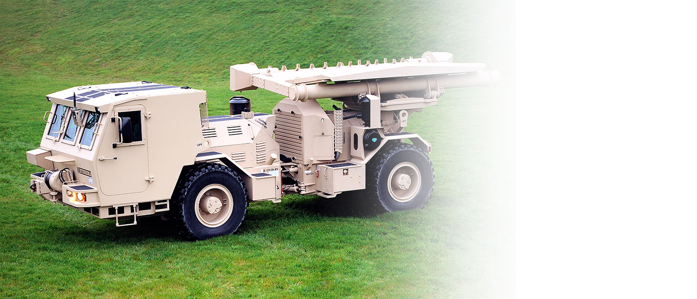 Hydrema 910MCV2-AMCS Mine clearing vehicle standing on grass