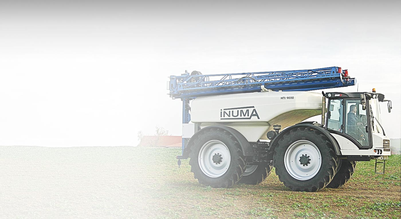 Hydrema 912F-Series compact dump truck with multichassis converted into fertilizer spreader