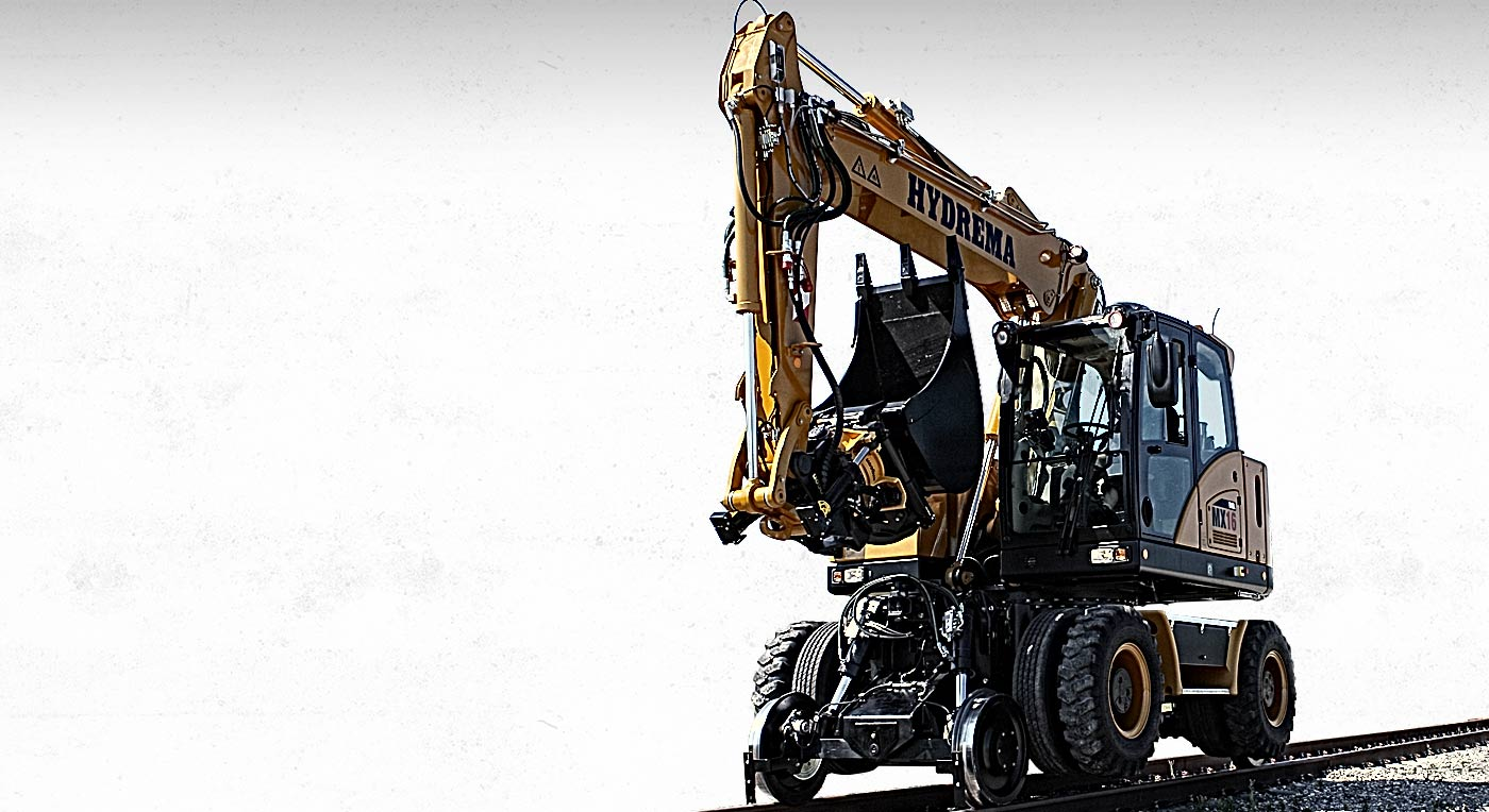 Hydrema mx 16 rail excavator is the most compact on the market