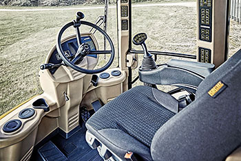 Hydrema 912F-series compact dump truck cabin view