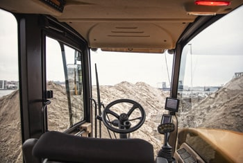 Hydrema 707G compact dump truck view of cabin from outside